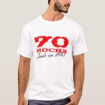 70.o Camiseta el | del cumpleaños 70 rocas hechas