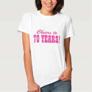 70.o Camisetas de la fiesta de cumpleaños para las Remeras