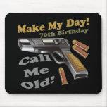 70.o Camisetas y regalos del cumpleaños Alfombrillas De Ratones