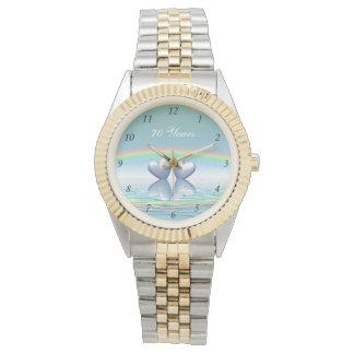 70.o Corazones del platino del aniversario Reloj