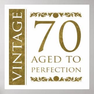 70.o cumpleaños del vintage de lujo posters