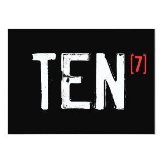 70.o cumpleaños - diez a la séptima invitación