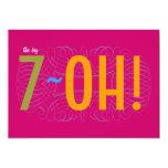 ¡70.o cumpleaños - el 7-OH grande! Invitación