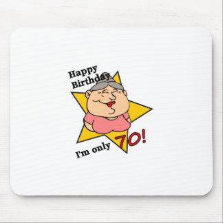 70.o cumpleaños feliz alfombrillas de raton
