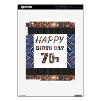 70.o cumpleaños feliz calcomanía para iPad 2