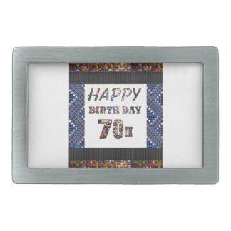 70.o cumpleaños feliz hebillas cinturón rectangulares