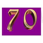 70.o cumpleaños feliz septuagésimos setenta 70 tarjeta