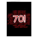 70.o cumpleaños feliz tarjeta