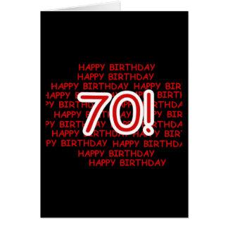 70.o cumpleaños feliz tarjeta de felicitación