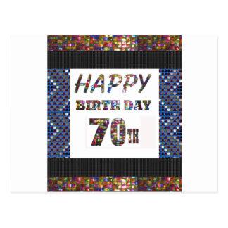 70.o cumpleaños feliz tarjeta postal