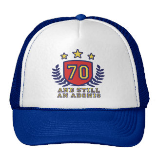 70 o Cumpleaños Gorra