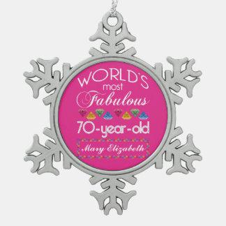 70 o Cumpleaños la mayoría del rosa colorido