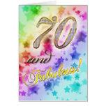 70.o cumpleaños para alguien fabuloso felicitación