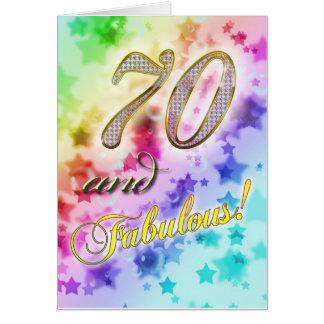 70.o cumpleaños para alguien fabuloso tarjeta de felicitación