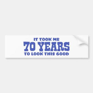 70.o Cumpleaños Pegatina Para Auto