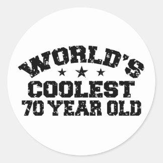 70.o Cumpleaños Pegatina Redonda