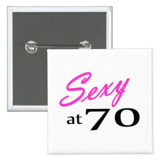 70.o Cumpleaños Pin Cuadrado