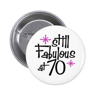 70.o Cumpleaños Pin Redondo De 2 Pulgadas