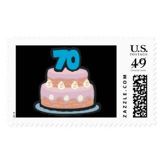 70.o Cumpleaños Sello