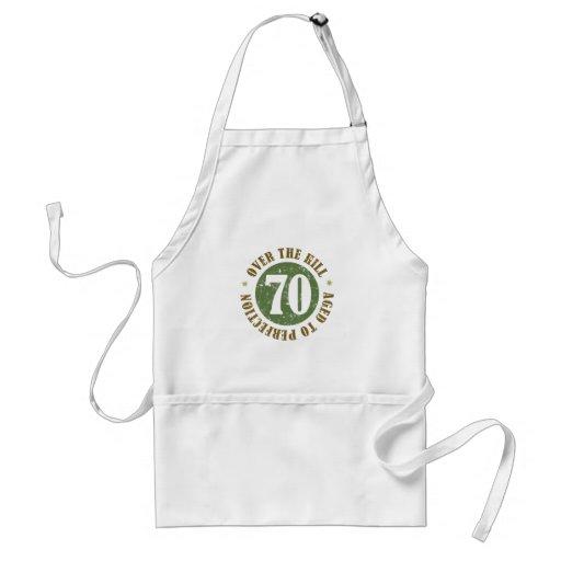 70.o Cumpleaños sobre la colina Delantales