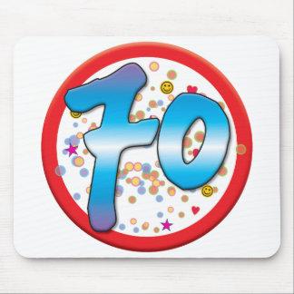 70.o Cumpleaños Alfombrilla De Ratón