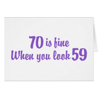 70.o Cumpleaños Tarjeta De Felicitación