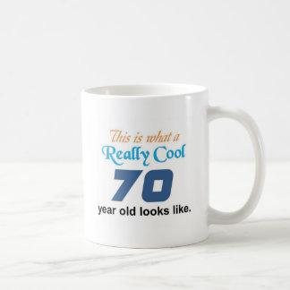70.o Cumpleaños Taza Básica Blanca