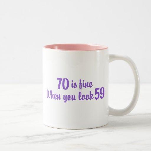 70.o Cumpleaños Tazas De Café