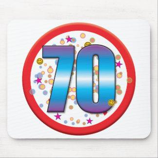 70.o Cumpleaños v2 Alfombrilla De Ratón