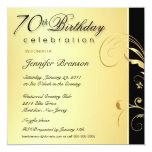 70.o Fiesta de cumpleaños - el oro elegante floral Anuncios Personalizados