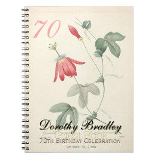 70.o Fiesta de cumpleaños - libro de visitas de la Libretas Espirales
