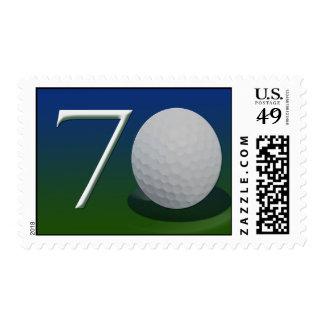 70.o Franqueo del golfista del cumpleaños