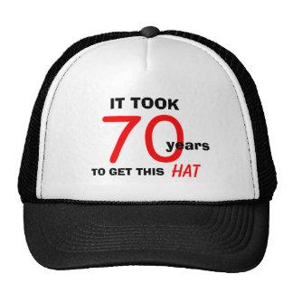 70.o Gorra de los regalos de la mordaza del