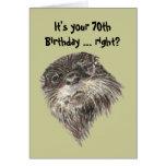 70.o humor del cumpleaños de la edad avanzada y an tarjeta de felicitación