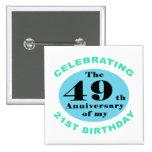 70.o Humor del cumpleaños Pins