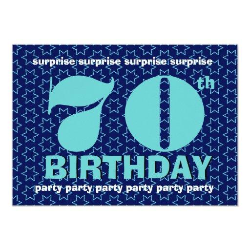 70.o Intrépido del cumpleaños de la SORPRESA y Comunicados Personales