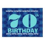 70.o Intrépido del cumpleaños de la SORPRESA y Invitaciones Personalizada