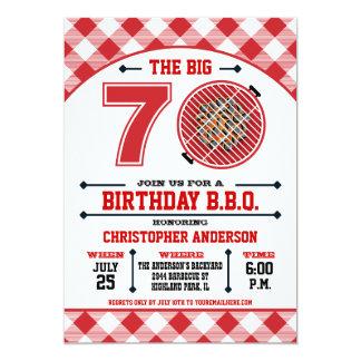 70.o Invitación de la barbacoa del cumpleaños