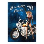 70.o Invitación de la fiesta de cumpleaños Invitación 12,7 X 17,8 Cm