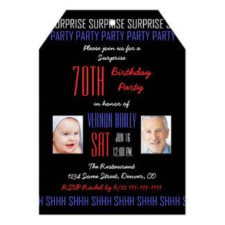 70.o Invitación de la fiesta de cumpleaños de la Invitación 12,7 X 17,8 Cm