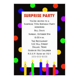 70 o Invitación de la fiesta de cumpleaños de la s