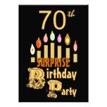 70.o Invitación de la fiesta de cumpleaños de la S