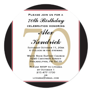 70.o Invitación del cumpleaños