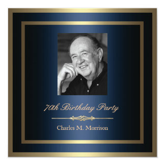70.o Invitación del cumpleaños - foto