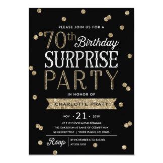 70.o Invitación del fiesta de sorpresa del confeti