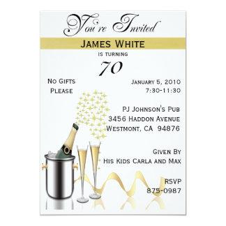 70.o Invitación personalizada de la fiesta de