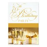 70.o Invitación personalizada de la fiesta de Invitación 12,7 X 17,8 Cm