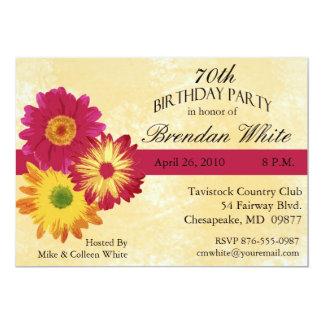 70.o Invitaciones de la fiesta de cumpleaños Comunicados Personales