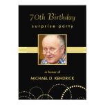 70.o Invitaciones de la fiesta de cumpleaños - Invitaciones Personalizada