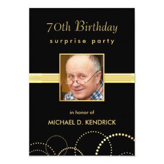 70.o Invitaciones de la fiesta de cumpleaños - Invitación 12,7 X 17,8 Cm